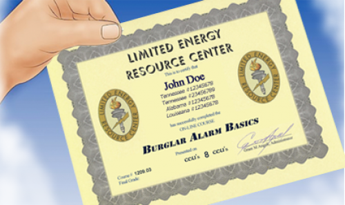 NEC Certificate